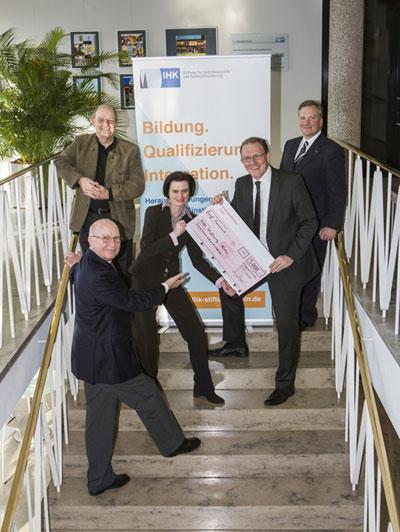Spende Bafatex IHK-Stiftung für Ausbildungsreife und Fachkräftesicherung Köln