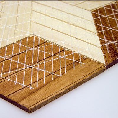 Verstärkung Bodenbelag Holz Parkett Mosaik